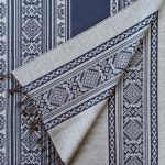 Hungarica Collection Throw in Navy/Mouse