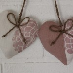 Laura Ashley Erin Chalk Pink and Austin Doorknob Hangers