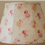 Hand tailored lampshade using Peony & Sage fabrics