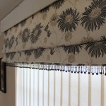 Laura Ashley Kimono Charcoal Roman Blind