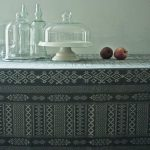 Arabica Charcoal fabric and tablecloths