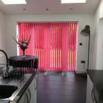 Candy Pink Vertical blinds